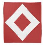 Modelo rojo y blanco del diamante