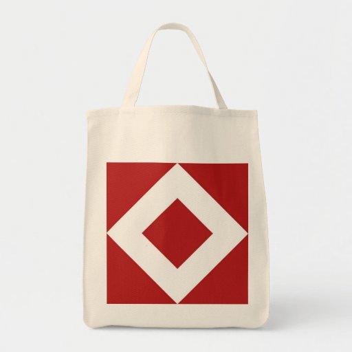 Modelo rojo y blanco del diamante bolsas