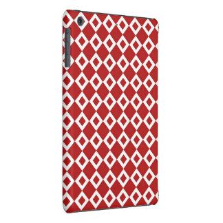 Modelo rojo y blanco del diamante fundas de iPad mini