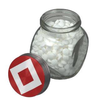 Modelo rojo y blanco del diamante jarras de cristal