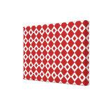 Modelo rojo y blanco del diamante impresión en lienzo estirada