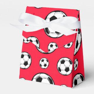 Modelo rojo y blanco del escarlata de fútbol del cajas para regalos