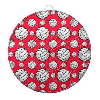 Modelo rojo y blanco del escarlata del voleibol