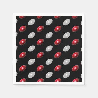 Modelo rojo y blanco del fútbol servilletas desechables
