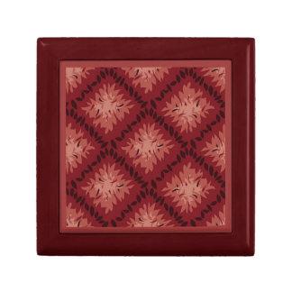 Modelo rojo y color de malva repetido del vintage cajas de regalo