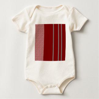 Modelo rojo y gris de Stiped Body Para Bebé