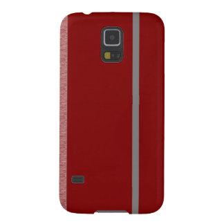 Modelo rojo y gris de Stiped Carcasa Galaxy S5