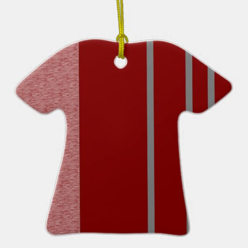 Modelo rojo y gris de Stiped Ornamentos De Navidad