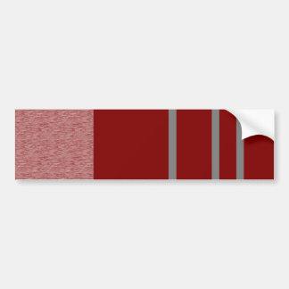 Modelo rojo y gris de Stiped Pegatina Para Auto