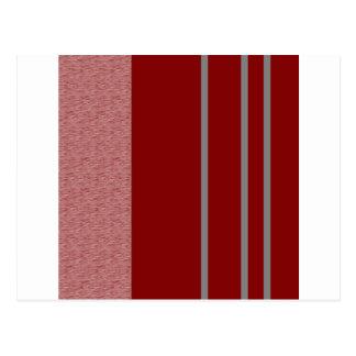 Modelo rojo y gris de Stiped Postales