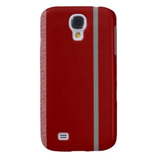 Modelo rojo y gris de Stiped Samsung Galaxy S4 Cover