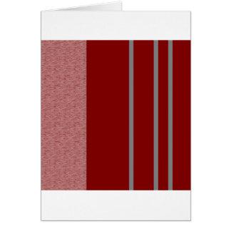 Modelo rojo y gris de Stiped Tarjeta De Felicitación