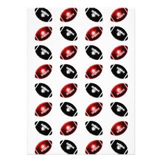 Modelo rojo y negro brillante del fútbol comunicado personal