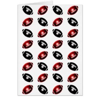 Modelo rojo y negro brillante del fútbol tarjetas