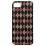 Modelo rojo y negro de Brown de muy buen gusto de  iPhone 5 Case-Mate Cárcasa