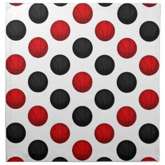 Modelo rojo y negro del baloncesto servilletas de papel