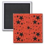 Modelo rojo y negro del moho de estrellas iman