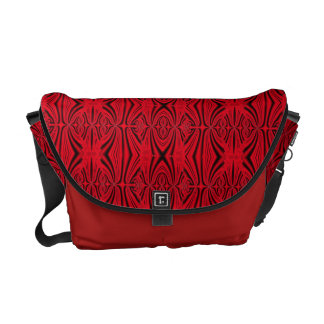 Modelo rojo y negro elegante bolsas messenger