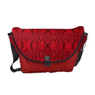 Modelo rojo y negro elegante bolsas de mensajeria