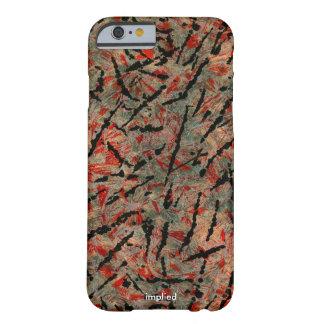 Modelo rojo y negro funda para iPhone 6 barely there