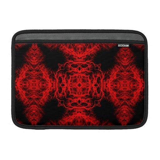 Modelo rojo y negro fundas macbook air