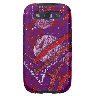 Modelo rojo y púrpura de Techno celestial Galaxy S3 Cárcasa