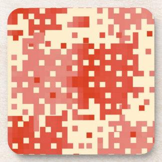 Modelo rojo y rosado del pixel posavasos de bebida