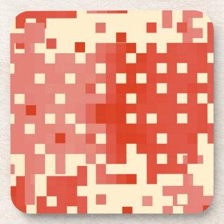 Modelo rojo y rosado del pixel posavasos