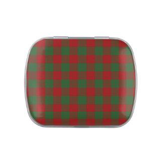 Modelo rojo y verde de la guinga jarrones de caramelos