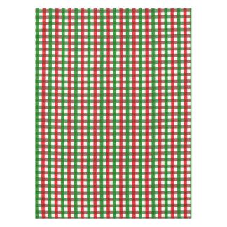 Modelo rojo y verde de la guinga mantel