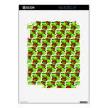 Modelo rojo y verde de la muestra de la manzana iPad 2 calcomanía