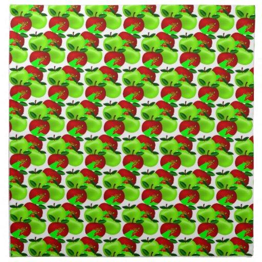 Modelo rojo y verde de la muestra de la manzana servilletas de papel