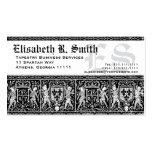Modelo romántico del bordado medieval elegante plantilla de tarjeta personal