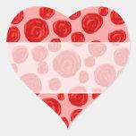 Modelo romántico del rosa rojo. En rosa Colcomanias De Corazon