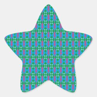 Modelo rombo pattern diamonds pegatina en forma de estrella