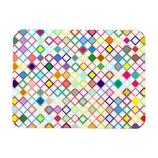 Modelo rombo pattern diamonds rectangle magnet