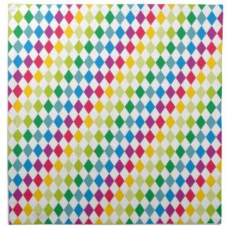Modelo rombo pattern diamonds servilleta de papel