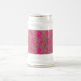 Modelo rosa claro del brillo de los deslizadores d jarra de cerveza