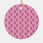 Modelo rosa claro del búho adorno de navidad