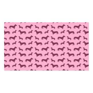 Modelo rosa claro lindo del dachshund plantillas de tarjetas personales