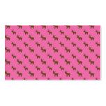 Modelo rosa claro lindo del reno plantilla de tarjeta de visita