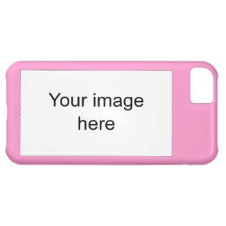 Modelo rosa de plantilla en blanco fácil y rápida funda para iPhone 5C