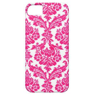 modelo rosado afortunado del damasco iPhone 5 carcasas