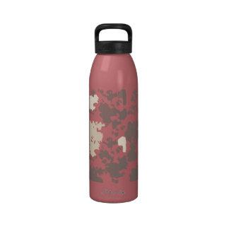 Modelo rosado animal lindo del MOO de la vaca de Botella De Agua