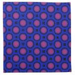 modelo rosado azul colorido de los círculos servilletas imprimidas