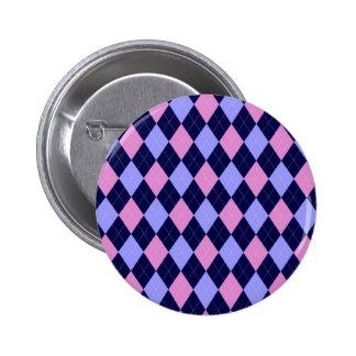 Modelo rosado, azul del argyle pins