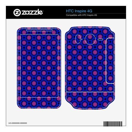 modelo rosado azul retro del círculo HTC inspire 4G skin