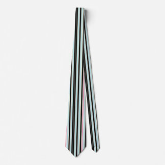 Modelo rosado blanco azul negro de la raya corbatas personalizadas
