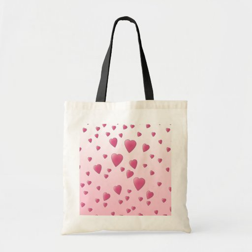 Modelo rosado bonito de los corazones del amor bolsa