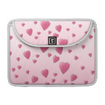 Modelo rosado bonito de los corazones del amor funda macbook pro